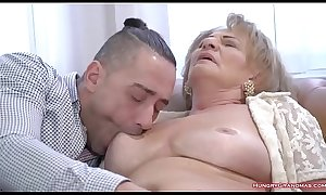 Sexy granny with big tits enjoys hard cock