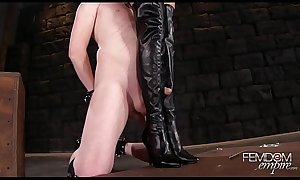 Bootjob porn and xxx boots cumpilation