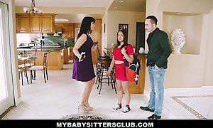 Mybabysittersclub - baby sitter receives a three-some on the job