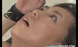 Asian sweetheart bond and fuckd by a fucking machine