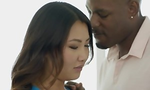 BLACKED Tight Asian Babe Jade Luv Screams on Massive Black Cock