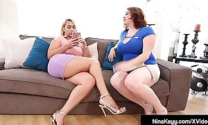 Horny Nympho Nina Kayy Shares BBC With Maggie Green!
