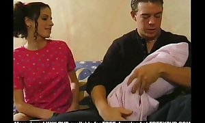 Babysitter drilled by the father and his german ...