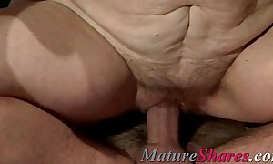Plump mature doggy style