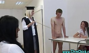 Naughty cfnm teacher and her students