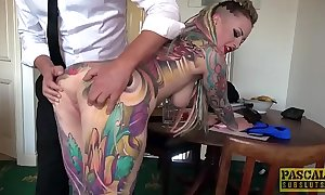Unexceptionally tattooed subslut piggy frowardness slammed unconnected with inexact dom