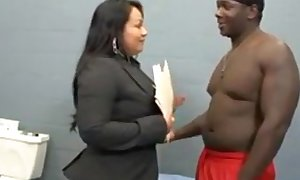 Latina lawyer bonks her dark fellow in his cell